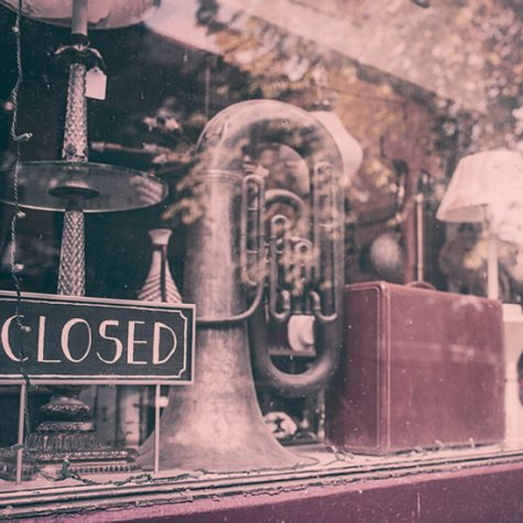 closed shop window