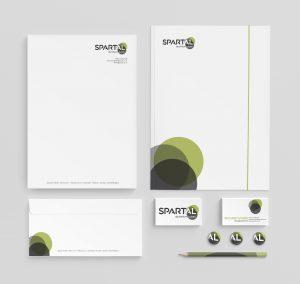 Spartal rebrand - stationery