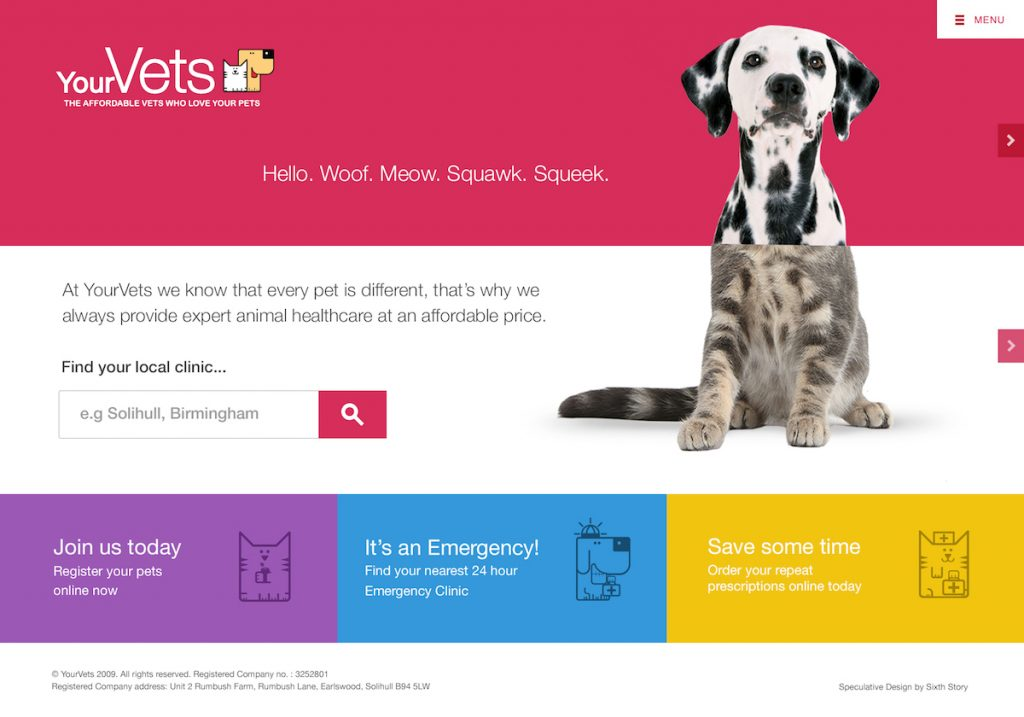 veterinary practice website