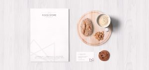 foodstore international branding and stationery
