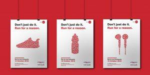 A mockup of Cure Leukaemia's posters