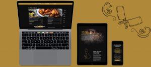 smoke haus responsive website mockups