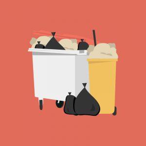 An illustration of rubbish