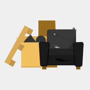 An illustration of domestic rubbish