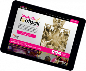legends of football website design on ipad