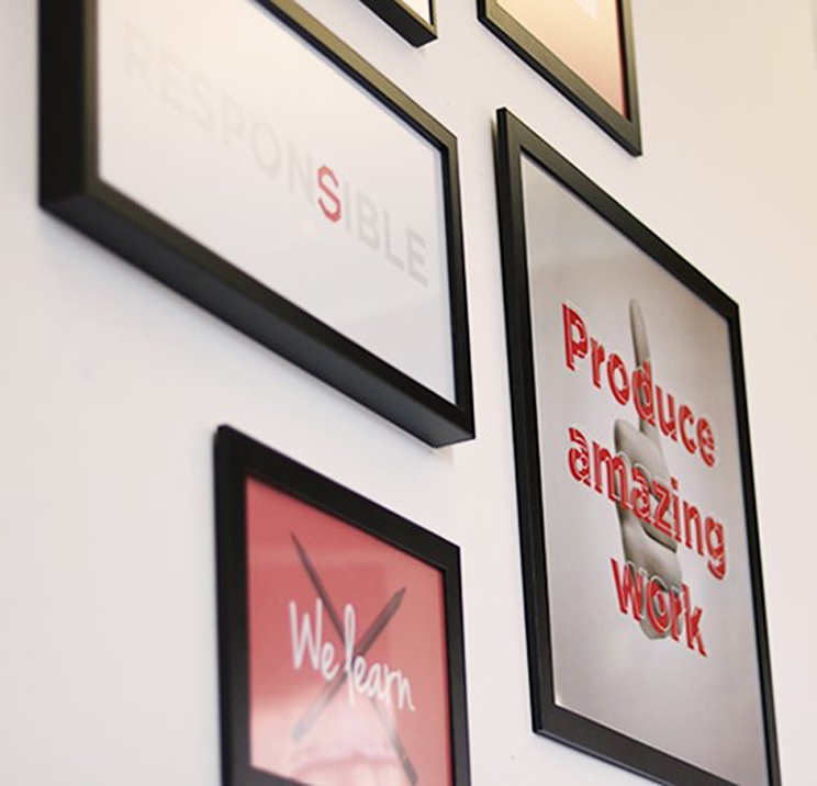 digital agency values posters
