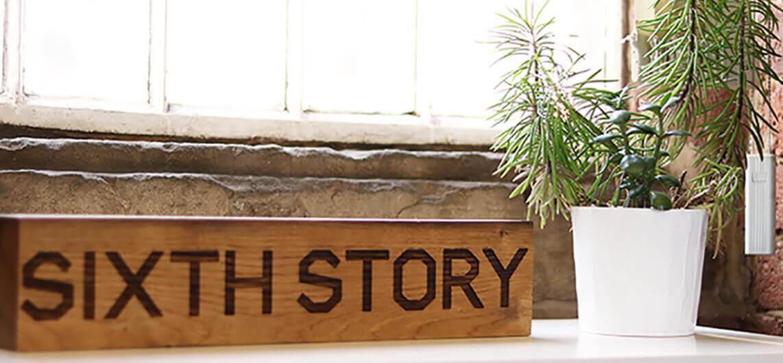 sixth story digital agency logo engraving