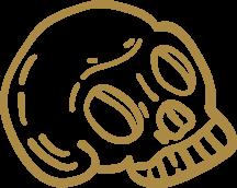 smoke haus website skull illustration design