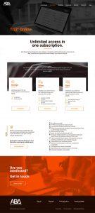 web design fro aston business assessments trait online page