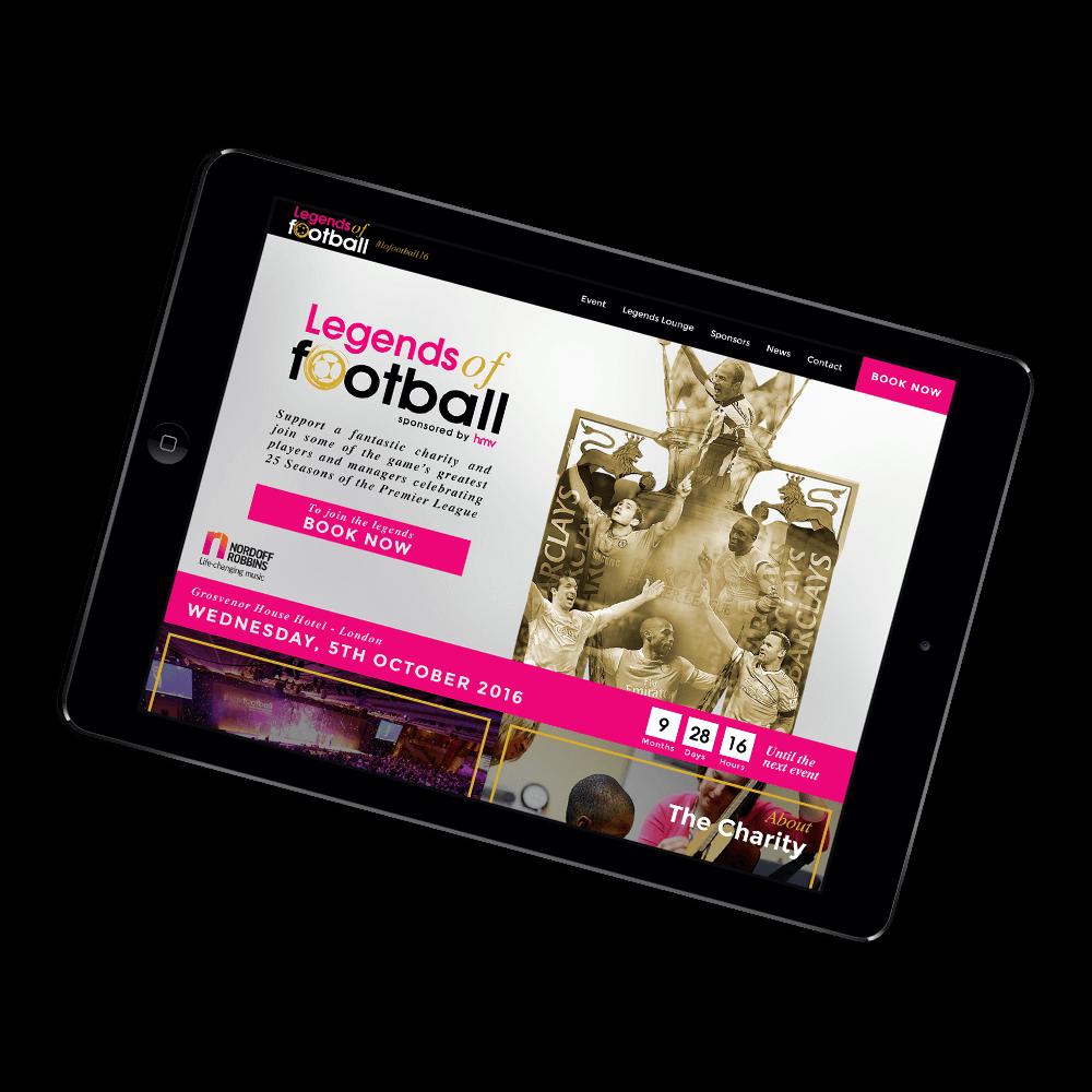 event website design ipad mockup