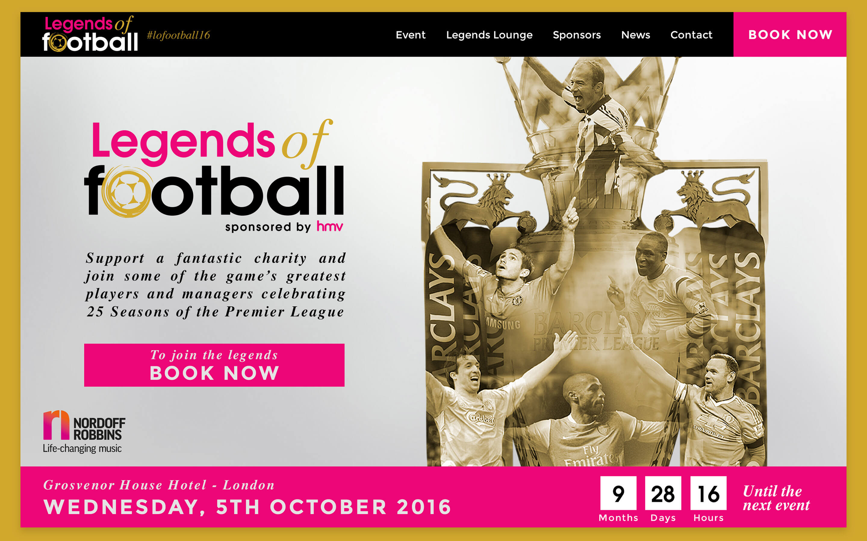 An image of Legends' of Football homepage