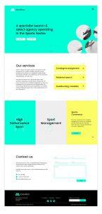 Mesolean website design
