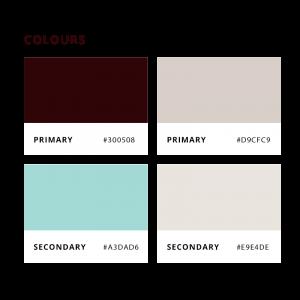 Snouts and Pouts colour palette