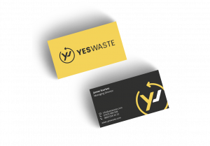 Yes-Waste-business-cards-branding
