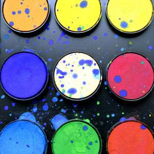 An image of water colours