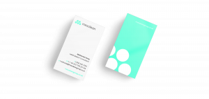 A mockup of Mesolean's business cards