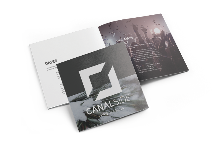 An image of Canalside's brochure