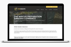 image of Yes Waste website design birmingham