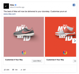 A Facebook ad for Nike