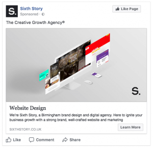 A Facebook ad for Sixth Story