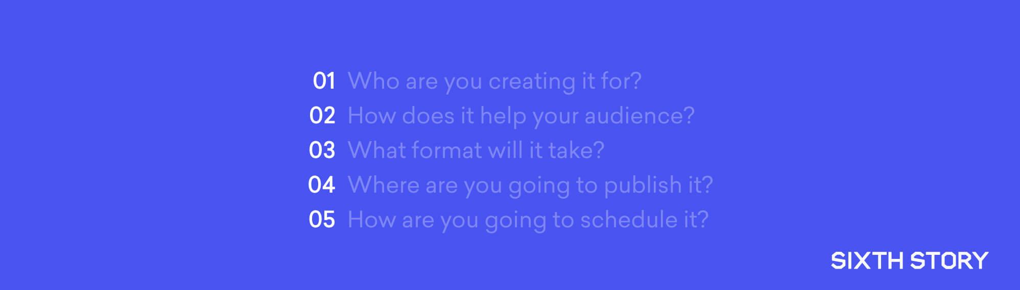 content marketing schedule