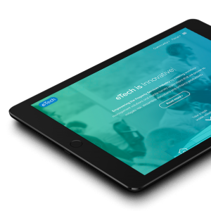 image of website design on an ipad to showcase digital product design