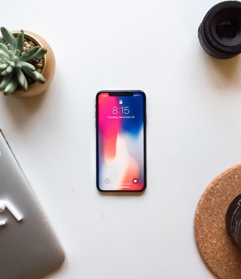 image of iphone x to represent gaining a social media advantage