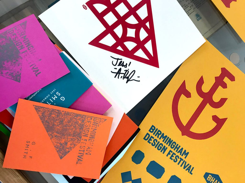 Prints and Aaron Draplin print at Birmingham Design Festival