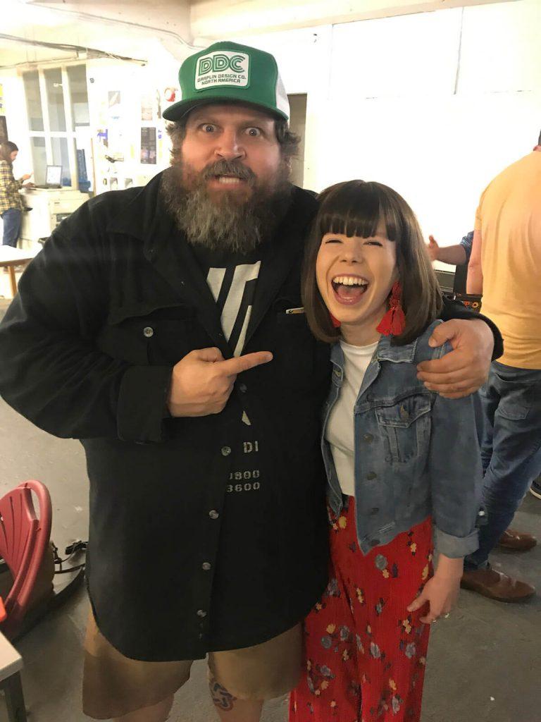 Elisha and Aaron Draplin at Birmingham Design Festival