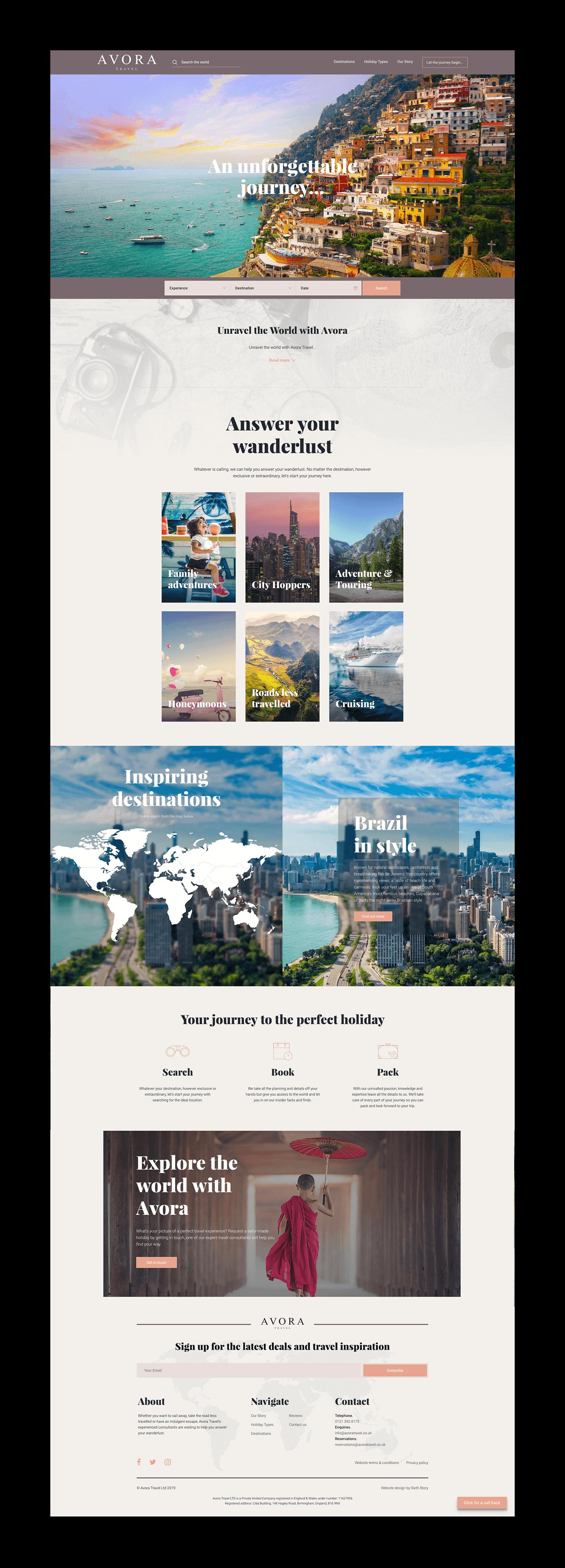 homepage design - website