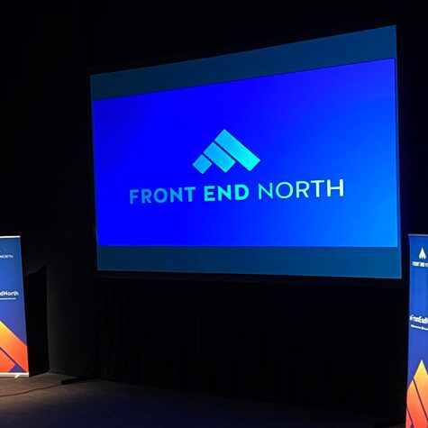 Front End North Conference - projected screen