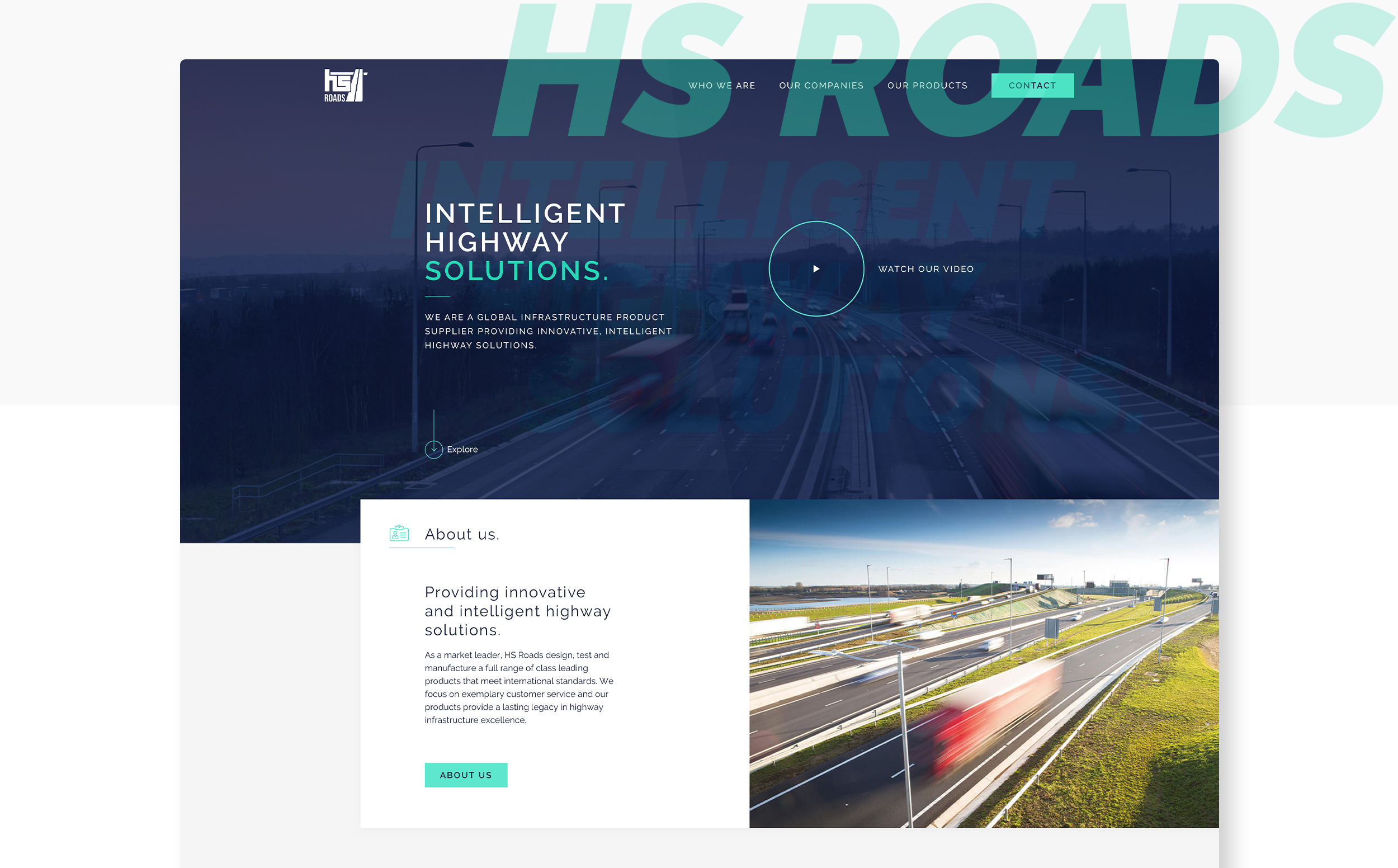 Mockup of the HS Roads website.